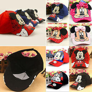Chlid-Boy-Girls-Mickey-Minnie-Cute-Adjustable-Hip-Hop-Baseball-Hats-Snapback-Cap