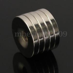 50pcs N50 Strong Ring Fridge Magnets Rare Earth Neodymium 20 x 3mm Hole 5mm
