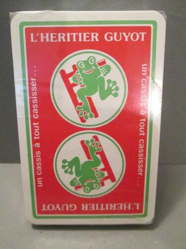 """jeu de carte ancien publicitaire/""""L/'HERITIER GUYOT/"""""""