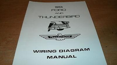 1955 FORD THUNDERBIRD WIRING DIAGRAMS SCHEMATICS MANUAL | eBay