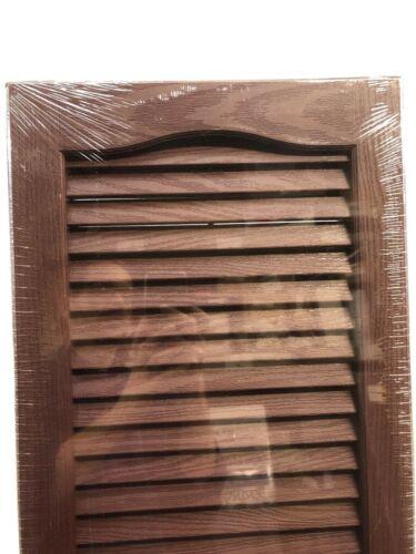"Vantage Cranberry 2-Pack 1114063989 Louvered Vinyl Exterior Shutters 14/"" x 63/"""