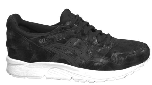 Asics Gel-Lyte V Lace Up Black White Leather Womens Trainers HL7E9 9090 M9