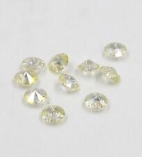 "12 pCS Swarovski 8mm side hole ""Diamond shape"" Crystal bead A Crystal yellow"