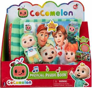 Cocomelon Nursery Rhyme Singing Time Plush Book, Featuring ...
