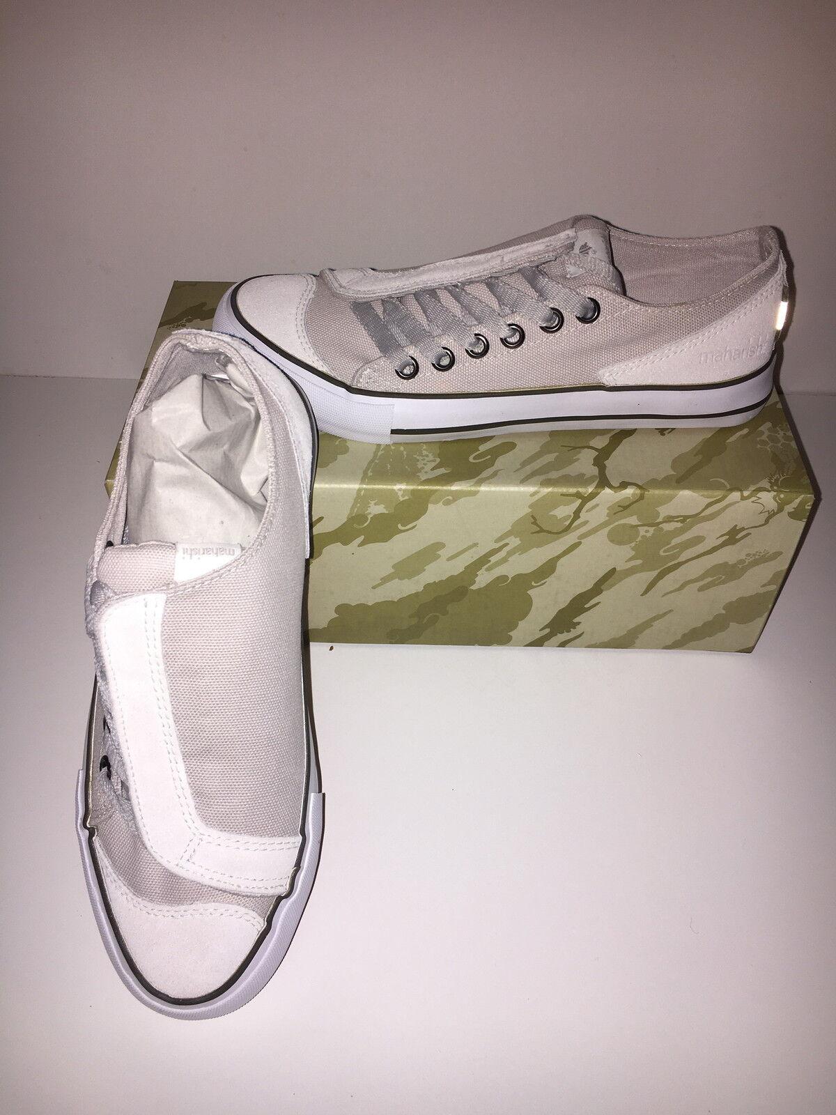 MAHARISHI Damenschuhe ASYM CANVAS SUEDE AND CANVAS ASYM DAY Schuhe IN STONE 01b450