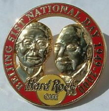 Hard Rock Cafe BEIJING 2000 51st National Day PIN 2 Gold Faces Red Circle #1102