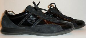 Details about ECCO LEATHER SNEAKERS WOMEN'S SIZE 9~9.5 US40 EUR! NO RESERVE!