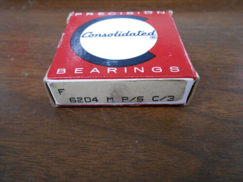 CONSOLIDATED BEARINGS 6204 M P//5 C//3