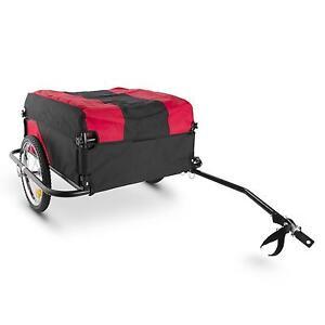 Remorque-Velo-Pour-Les-Objets-velo-Chariot-Pliant-Courses-Rouge-Noir-60K