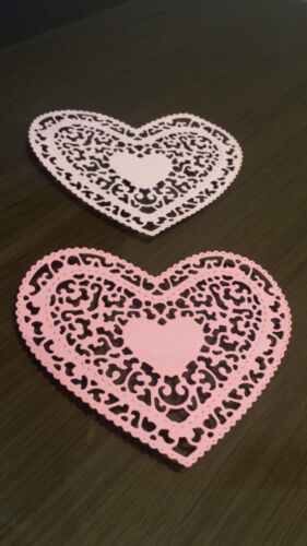 Filigree Heart Card Toppers for Mother/'s Day Wedding or any other occasion x12
