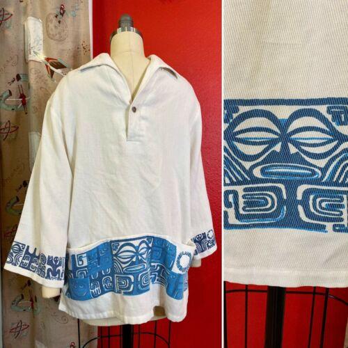 Vintage 1960s Shirt • Waltah Clarke Hawaiian Cordu