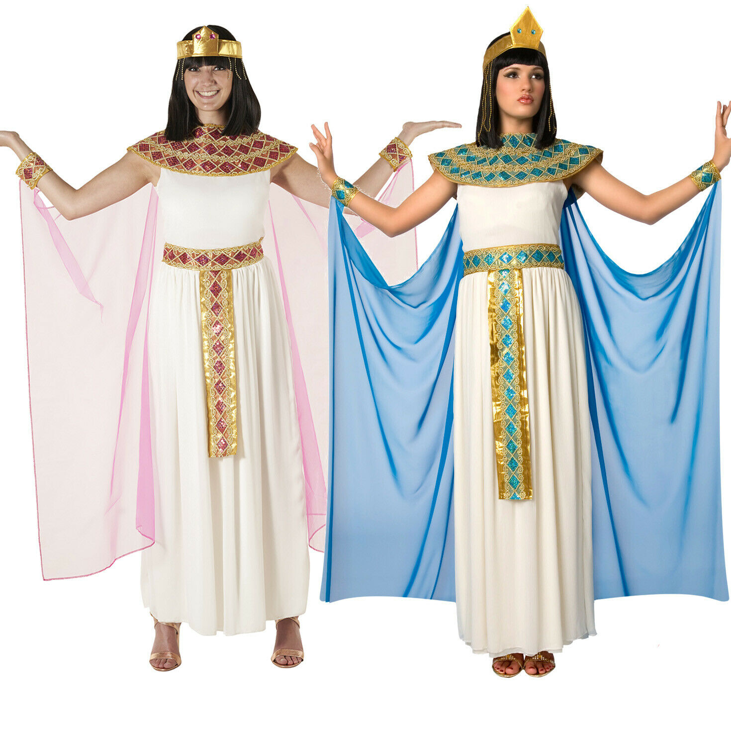 Cleopatra Queen of Egypt Nile Black Egyptian Goddess Women Costume