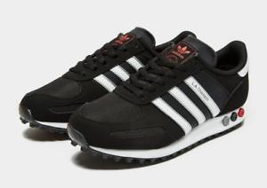 Adidas-Originals-LA-Trainer-Taille-6-12-UK-Low-Top-Sneakers-en-daim-chaussures-en-cuir