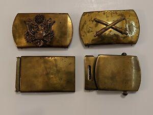 Vintage Military Belt Buckles Lot of 4