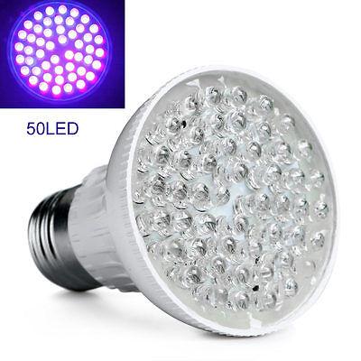 Bright E27 Uv Ultraviolet Color Purple Light 50 Led Lamp
