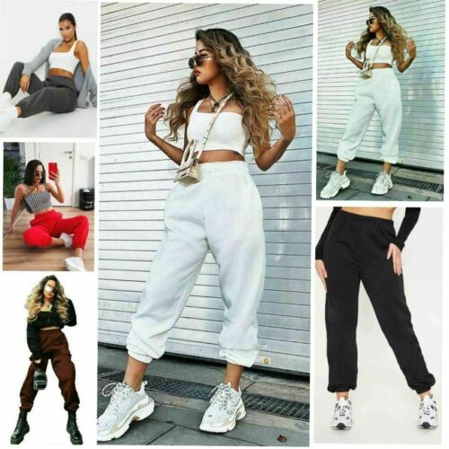 Womens Fleece Casual Ladies Jogging Joggers Ladies Cuffed Tracksuit Bottoms