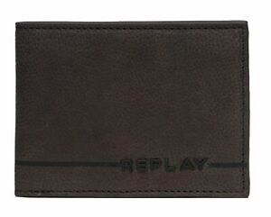REPLAY-bourse-Leather-Flap-Wallet-Brown-Cocoa