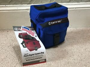 TAMRAC-600R-EXPO-JR-CAMERA-BAG-FOR-DSLR-SLR-BLUE-NEW-MADE-IN-USA