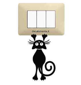 Adesivo-Stickers-Tuning-Gattino-appeso-gatto-muro-specchio-parete-auto