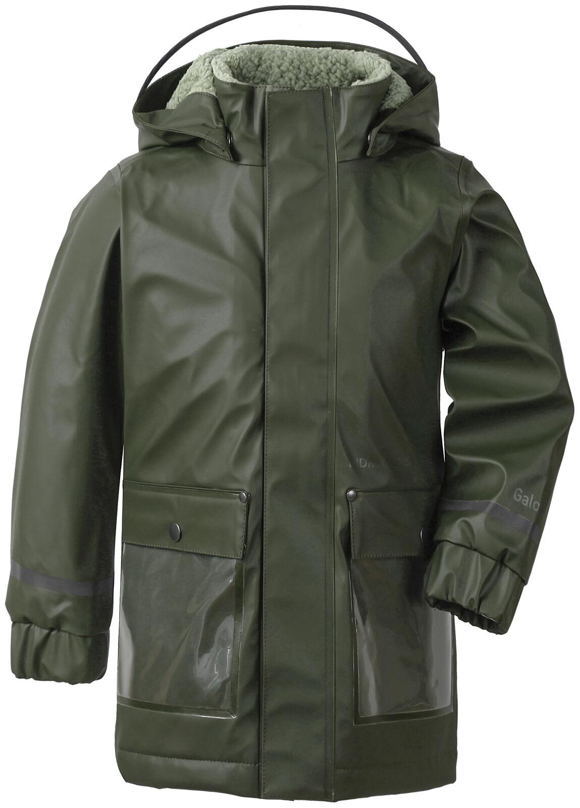 Didriksons Outdoorjacke Adventurejacke Ekholm Kid's Coat 2 dunkelgrün winddicht