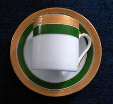 Demitasse - Espresso Cup and Saucer Heidel Confiserie Germany Gold & Green