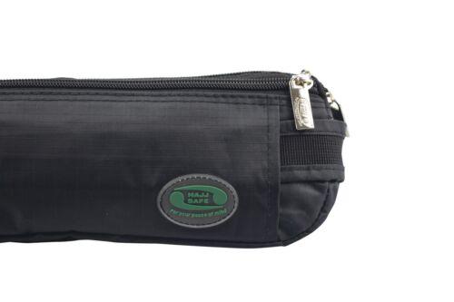 passeport Hajj /& Umra-noir anti-theft moyen taille sac /& ihram ceinture-argent