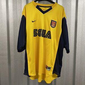 Arsenal FC Nike 1999/01 Away Football Shirt (Sega) Size UK XL Extra Large *VGC*