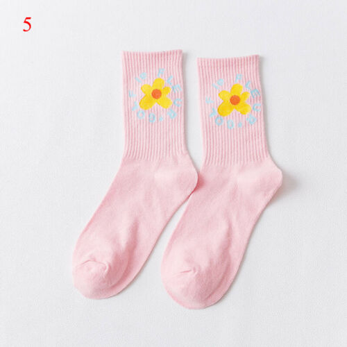 1pair Harajuku Cartoon Women Cute Sock Cotton Fashion Colorful Funny Kawaii Sock
