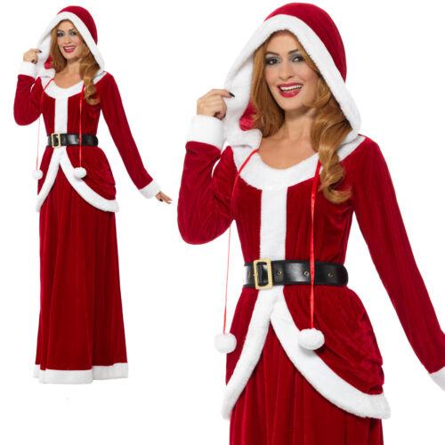 Mme Noël Costume Noël Miss Santa Femme Mesdames Adulte Fancy Dress Outfit