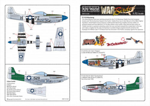 Kits-World Decals 1//72 North-American P-51D Mustangs # 72169