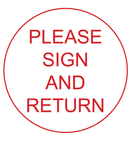 Image result for sign and return