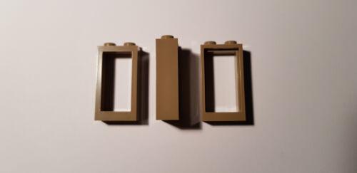 Dark Tan #C69 LEGO® 5 x 60593 Fenster Rahmen 1 x 2 x 3 duneklbeige 6151557