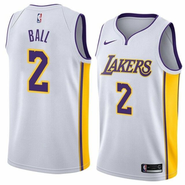 fab9d16d2a6 Nike Lonzo Ball Los Angeles Lakers Swingman Jersey Mens 3xl for sale ...