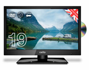 "CELLO 19"" INCH LED TV TRAVELLER 12v TV DVD FREEVIEW HD & SAT TUNER CARAVAN TV"