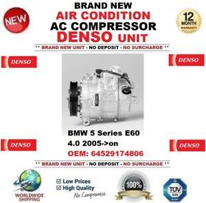 Denso-Aire-acondicionado-CA-Compresor-para-BMW-5-E60-4-0-2005-gt-En-Adelante-OEM