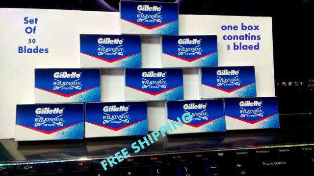 200 pc GILLETTE WILKINSON SWORD Safety RAZOR BLADES  *FREE worldwide  shipping