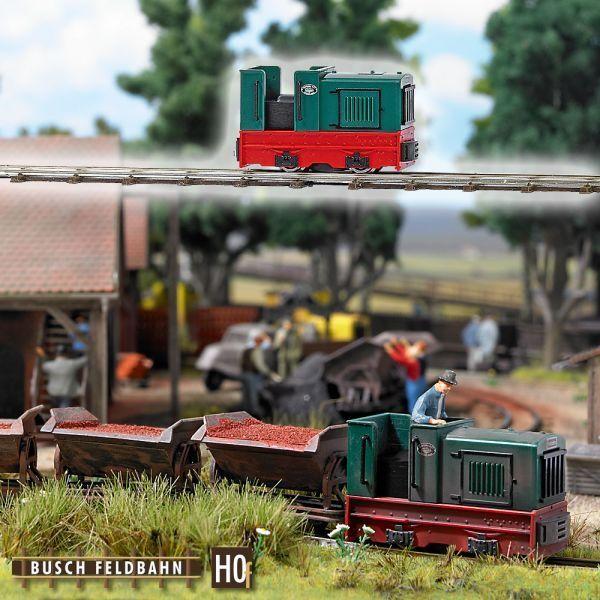 Busch 12115-h0f-campo Bahn-DIESEL GMEINDER 15/18 PS VERDE OVP