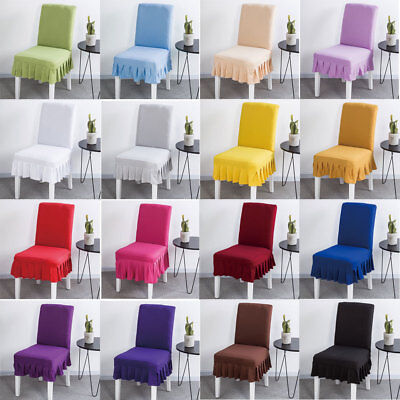 Tremendous Simple Chair Cover Hotel Wedding Banquet Elastic Slipcover Dining Seat Covers Ebay Andrewgaddart Wooden Chair Designs For Living Room Andrewgaddartcom