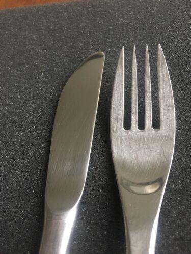 WMF Rügen Cromargan 1 Tafelmesser 1 Tafelgabel mehrere da öfters benutzt
