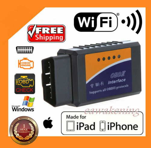 ELM327 WiFi OBD2 OBDII Car Diagnostic Scanner Code Reader Tool for iOS/&AndroidNA