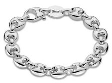 Gucci Marina Chain Logo Engraved 925 Sterling Silver Bracelet YBA325830001 New