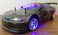 NISSAN GTR SKYLINE R34 RECHARGEABLE Radio Remote Control Car  20MPH - GREY