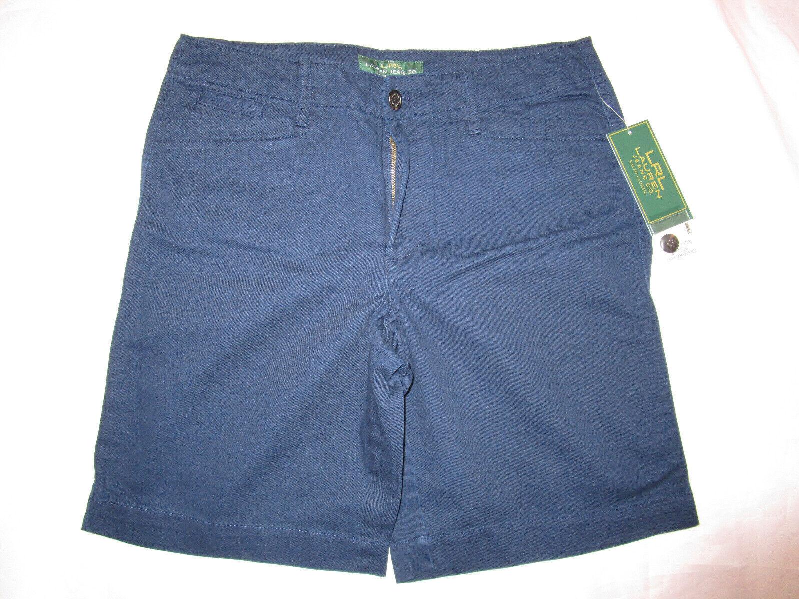 RALPH LAUREN womens navy bluee casual short SIZE 10 new nwt