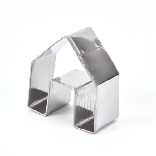 Mini DIY Lebkuchenhaus Ausstecher Set 3 Stück Edelstahl Keks M lx