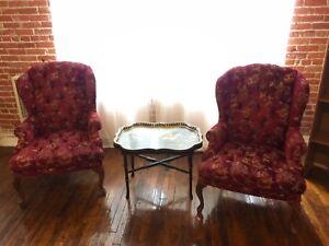 Burgundy Vintage Sofa Chairs Ebay