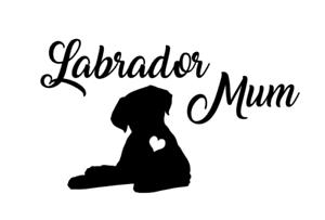Labrador Dog Mum Car Decal Vinyl Sticker Puppy Love Lab Gift Window