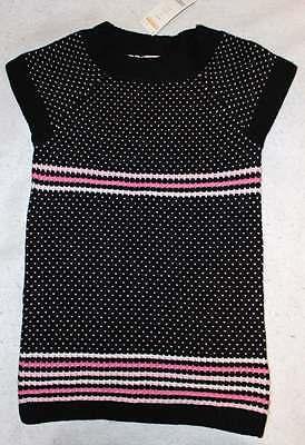 NWT Gymboree Glamour Ballerina Black Dot Sweater Tunic Top M 7 8 Yrs.