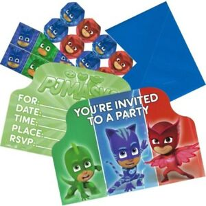 Image Is Loading PJ Masks Birthday Party Supplies Invites Invitations Envelopes