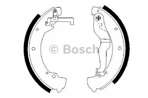 1 Bremsbackensatz BOSCH 0 986 487 312 passend für AUDI SEAT SKODA VW