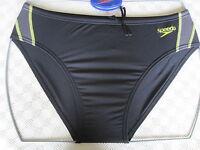Speedo Swimwear Mens Endurance Black Frame 8cm Brief Uk Mens Sizes